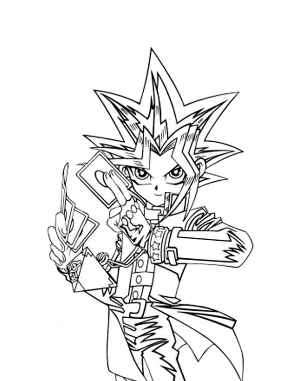 Yu Gi Oh Card Carrying Coloring