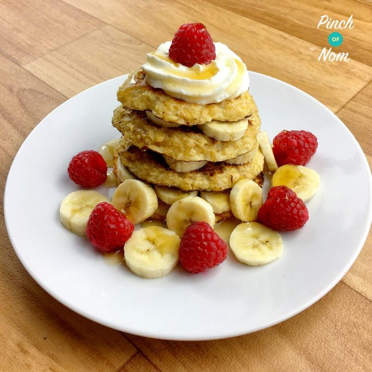 Syn free oat pancakes - Pinch of Nom