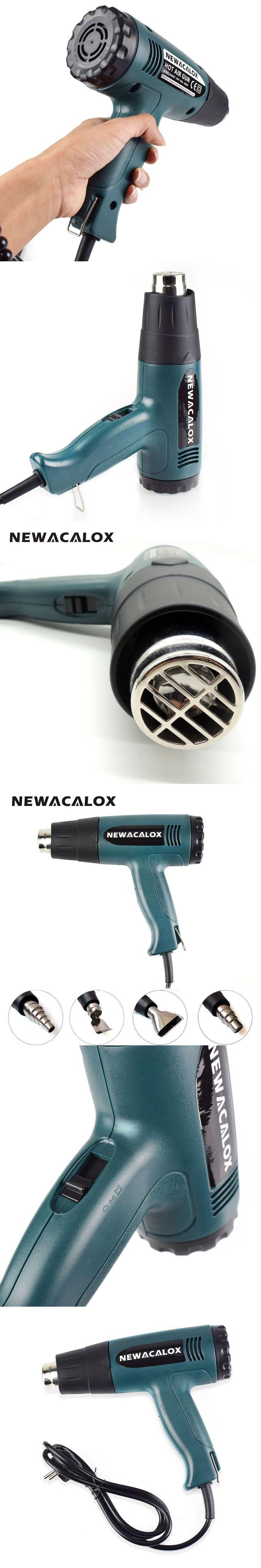 NEWACALOX 1800 Watt 220V EU Plug Industrial Electric Hot Air Gun Thermoregulator Heat Gun Kit Professional Heatguns Shrink Wrap