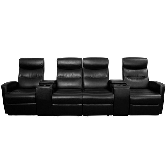 Flash Furniture 4 Seat Home Theater Recliner u0026 Reviews | Wayfair  sc 1 st  Pinterest : 2 seater theatre recliner - islam-shia.org