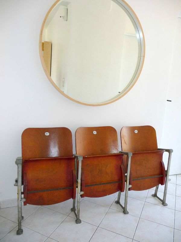 50's theater/cinema chairs in my hallway