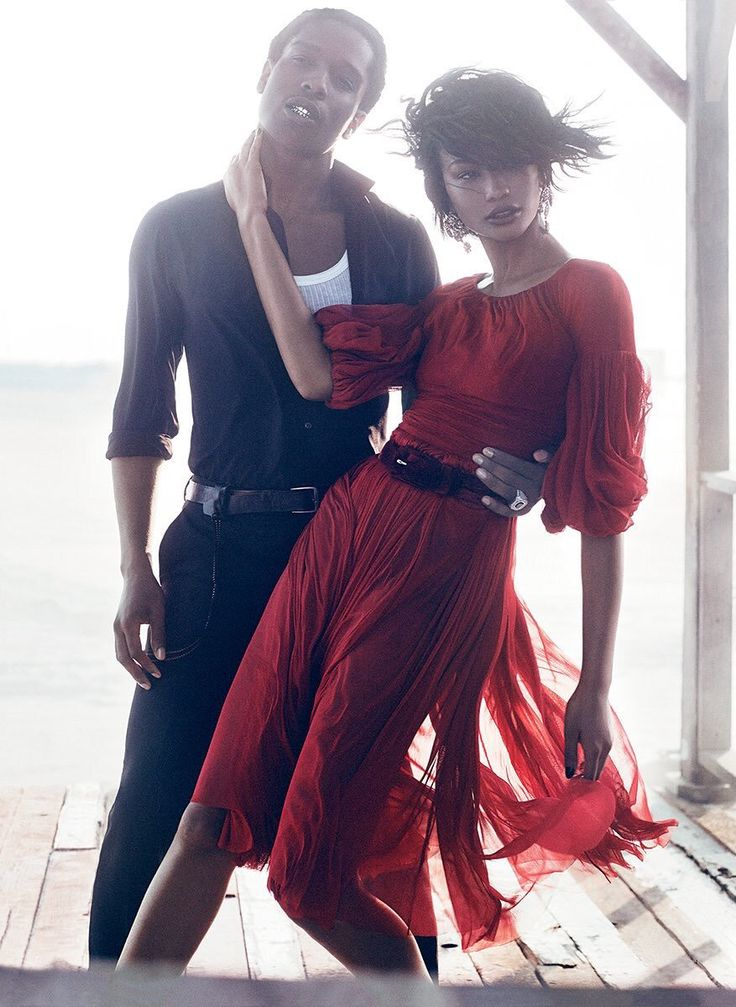 ASAP Rocky and Chanel Iman for Vogue