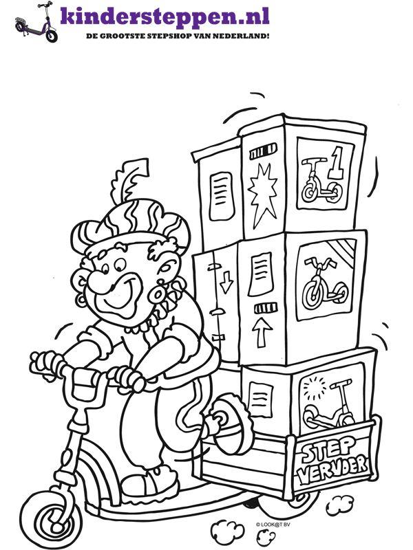 Kleurplaat Piet Sint Kleurplaten Zwarte Piet