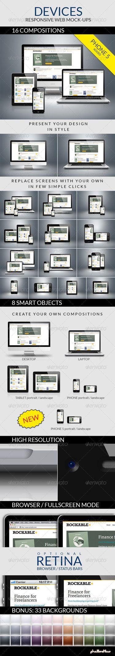 Devices - Responsive Web Mock-ups by GraphicAssets.deviantart.com on @DeviantArt