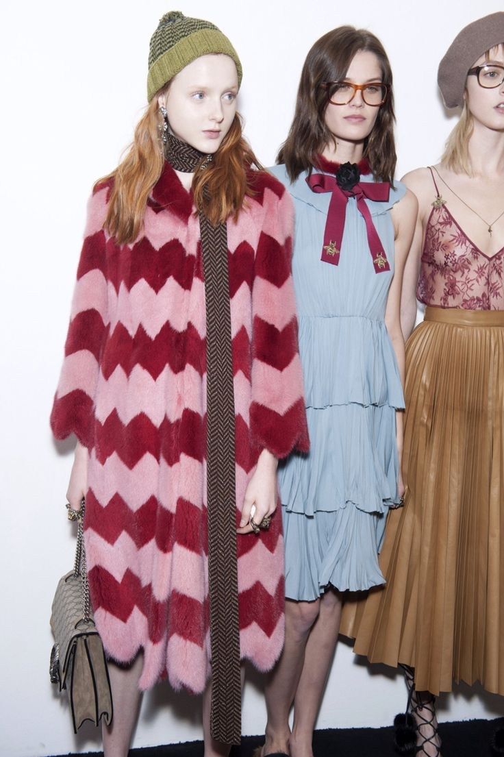 Backstage at Gucci A/W 2015