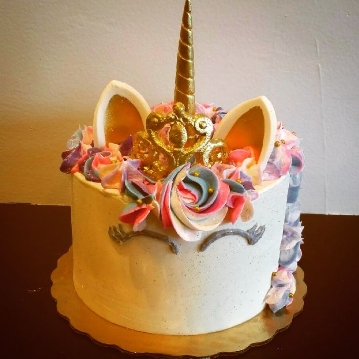 Unicorn cake with princess crown 26 best