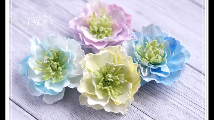 Foamiran Flowers & Centres Tutorial