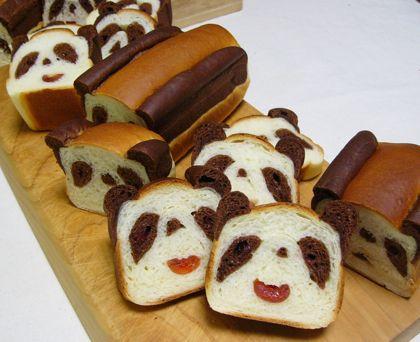 Panda bread. パンダブレッドと杏のクラフティー : パンとお菓子と美味しい時間