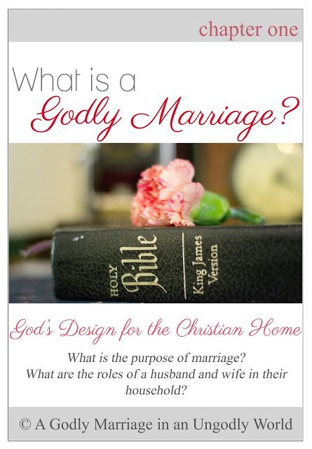 A Godly Marriage in an Ungodly World: What is a Godly Marriage? | God's Design for the Christian Home (Part 1 of 7)