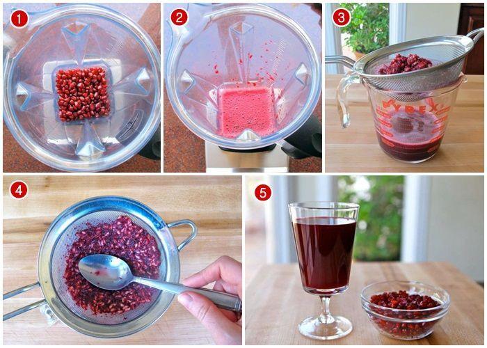 Cara Membuat Jus Delima Merah Tanpa Ampas Jus Delima Delima Jus