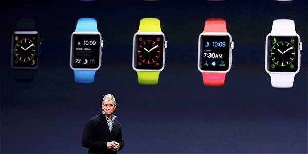 El CEO de Apple, Tim Cook, durante la presentación del Apple Watch.