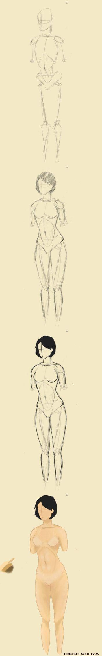 """A medida que vou evoluindo, vou postar algumas dessas """"evoluções"""".  Resolvi mergulhar de cabeça no estudo da anatomia, e oque eu aprendi foi que não é fácil!  O melhor método é entender como toda anatomia humana funciona: Por que existe um músculo aqui? Por que essa curva ali? e etc.   Quando você conseguir responder essas perguntas, estará dominando a anatomia, e como consequência, conseguirá reproduzi-la no papel."""