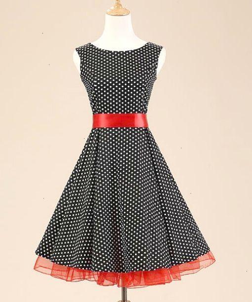 90948f81bf0 Black and White Polka Dot Vintage Dress | καλοκαιρινη μοδα | Το ...