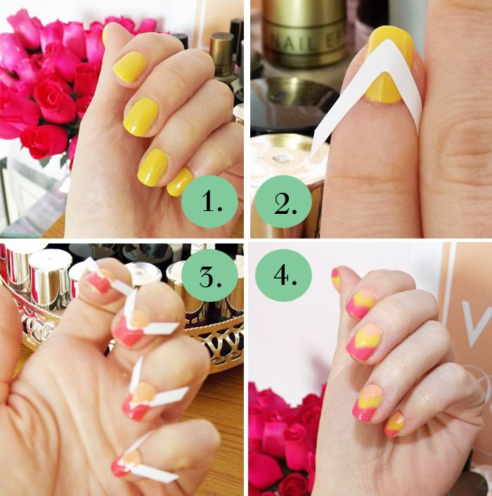 Two color nail design easy 63
