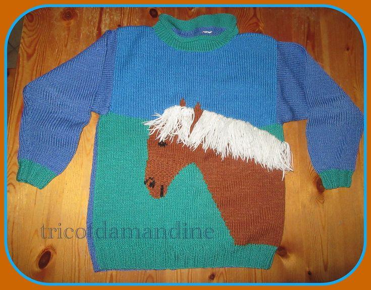 pull cheval 11-12 ans tuto : http://tricotdamandine.over-blog.com/2017/02/pull-cheval-pour-enfant-modele-11-12-ans.html#ob-comments