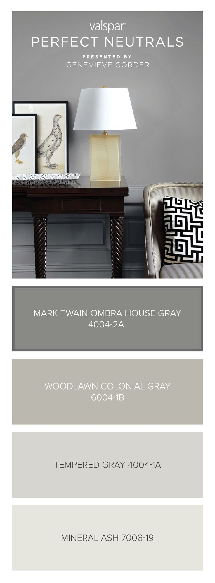 Here S A Tip From Genevieve Gorder Mark Twain House Ombra Gray Is Dark Enough To Be Your Grounding Color Light Neutral