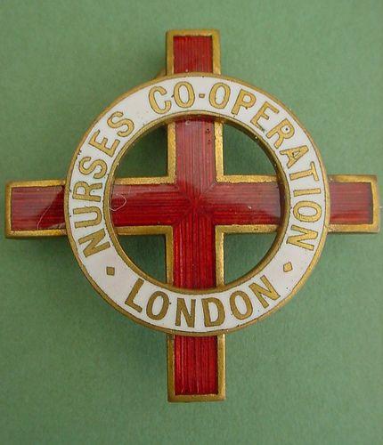 London Nurse Co-operation Badge 1913