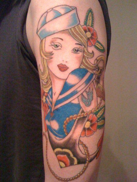 New School Pin Up Tattoo 23 best New Sch...
