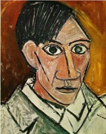 Self Portrait (1907) by Pablo Picasso | Oil on Canvas - MakingArtFun.com