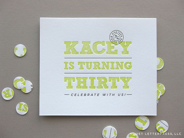 16 best letterpress for birthday party images on pinterest letterpress invitation with typography filmwisefo Images