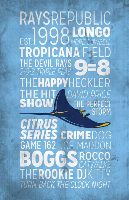 *At The Rays Beginning: Some significant mentions!  And I'm adding to this: My son was born in January 1998--A year to Remember ALWAYS!   **Tampa Bay Rays Print by BigLeaguePrints on Etsy, $18.00