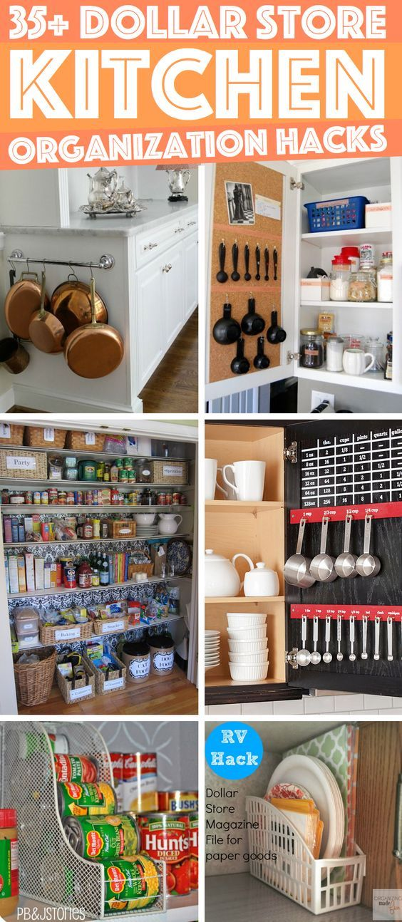 36 Dollar Store Kitchen Organization Hacks You