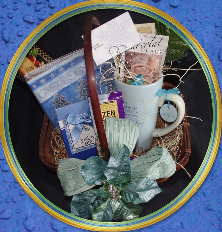 Imagine Christmas Basket.                                                                                                                                                                                    Send a relaxing moment to someone special this Christmas.   A fun Imagine Mug ready to be filled with a cup of zen coffee or iced chocolate drink.                                              CB002  $44.99