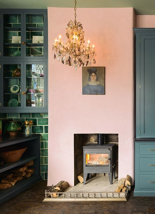 millennial pink is also fabulous with green in this year's hottest colour combination as seen in this Devol Kitchen in Clerkenwell in London