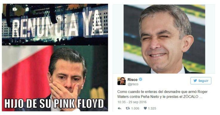 """Hace unos días, en México fue muy sonado lo ocurrido en el concierto de la banda de Pink Floyd ya que su fundadorRoger Waters cuestionò a Enrique Peña Nieto y Donald Trump de una forma épica, colocò pantallas gigantes en el escenario y dijo estas palabras: """"La última vez que toqué aquí en el Foro Sol, conocí a unas familias de los jóvenes desaparecidos de México.  Sus lágrimas se hicieron mías, pero las lágrimas no traerán de vuelta a sus hijos."""