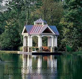 This Beautiful Lakeside Gazebo Made By Tanglewood Conservatories Has An Elegant Conservatory To Match