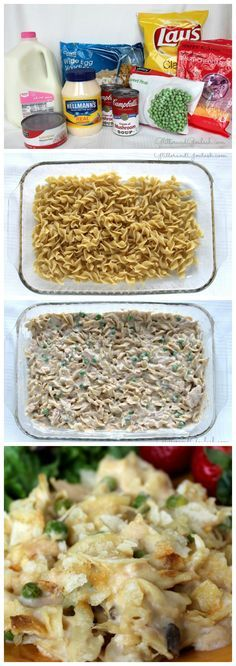 This was the best tuna hot dish/casserole recipe ever! Crunchy chips mixed inside too