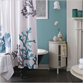 great west elm shower curtain...love these colors!
