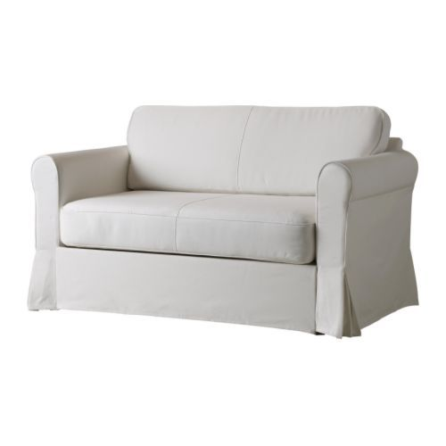 Ikea Hagalund sofa bed - perfect size for 2 parents reading to baby, opens out for grandma to come visit