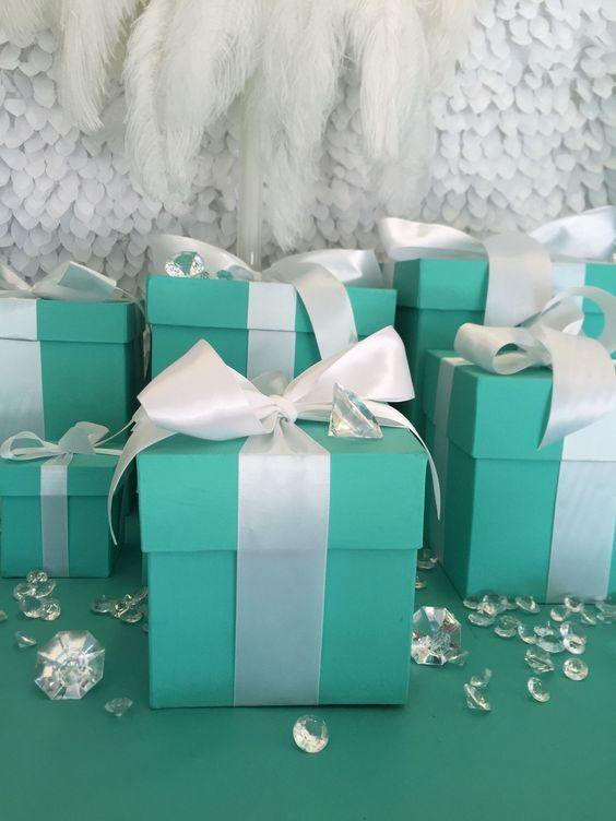 5x5 gift box with ribbon in 2019 breakfast at tiffany s bridal rh pinterest com