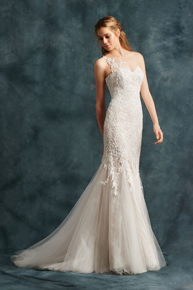 17 Best images about One Shoulder Strap Wedding Dress Inspiration ...