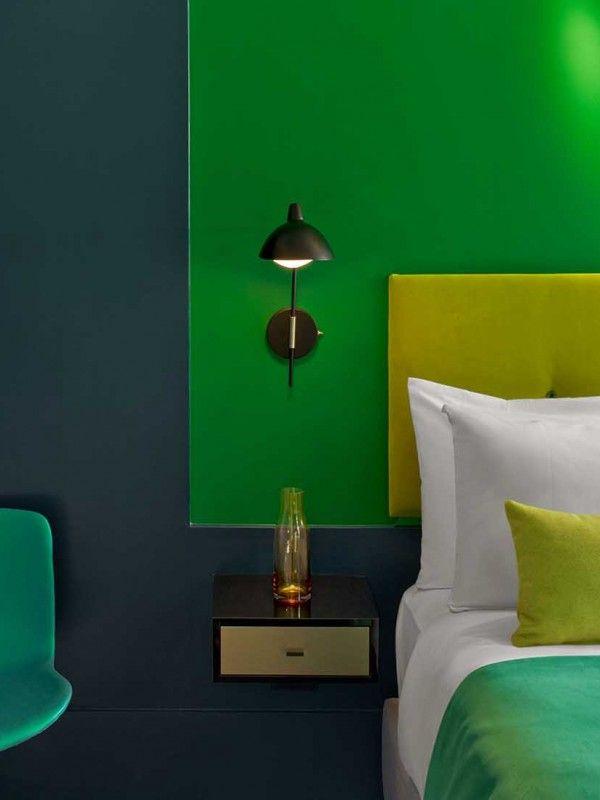 #excll #дизайнинтерьера #решения Цветной эксперимент в Нью Йорке