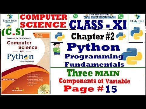 Class 11 CS With Python Preeti Arora Book Solution 2019