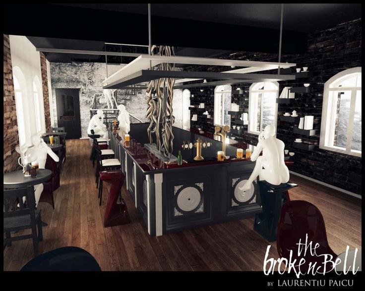 The Broken Bell, Amenajare Bar | stud.arh. Laurentiu Paicu