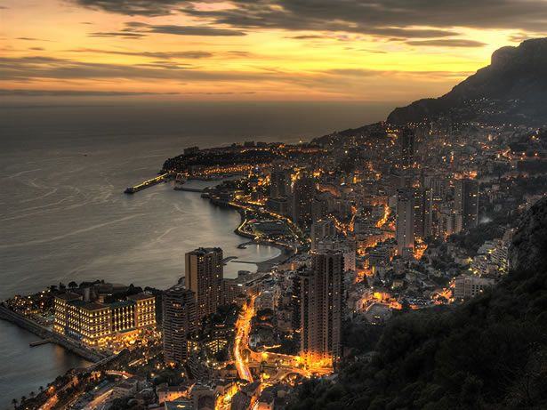 monaco - where you can stand in one spot and see the whole country