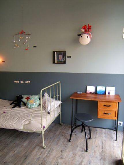 2-tone colour wall #jongenskamer