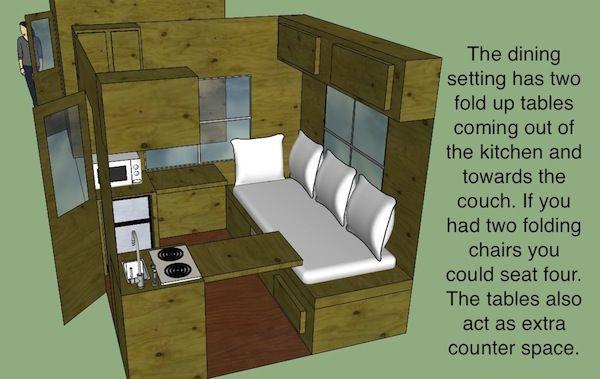 Hunter s 8 8 micro cabin design for 8x8 room design