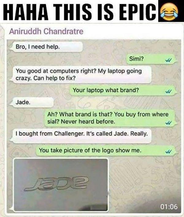 My laptop model is JADE