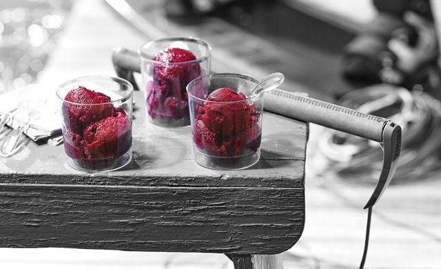 Sorbet aux petits fruits, betteraves et érable