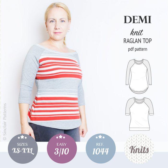Demi Classic Raglan Knit Top Pdf
