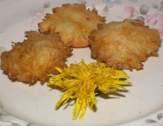 "Fried dandelions recipe- these are one of my favorites and make good use of the fact my ""lawn"" is actually a dandelion patch!"
