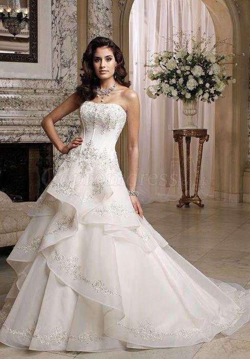 wedding dress,wedding dresses,wedding dress,wedding dresses organza strapless embroidery ruffles corset wedding dress