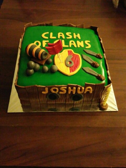 Clash of clans themed cake