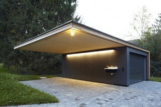 Garage mit carport modern  Haus Hainbach / MOOSMANN | Carport garage, Architecture and House