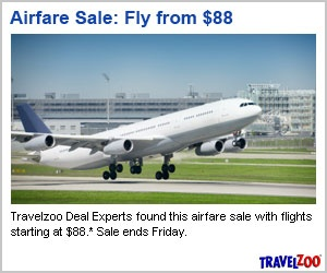 Time to Buy! Airfare Sale, Flights Starting at $88!