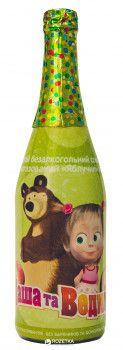 Напиток безалкогольный соковый сильногазированный Маша и Медведь Яблочный каприз 0.75 л (4820120800771)